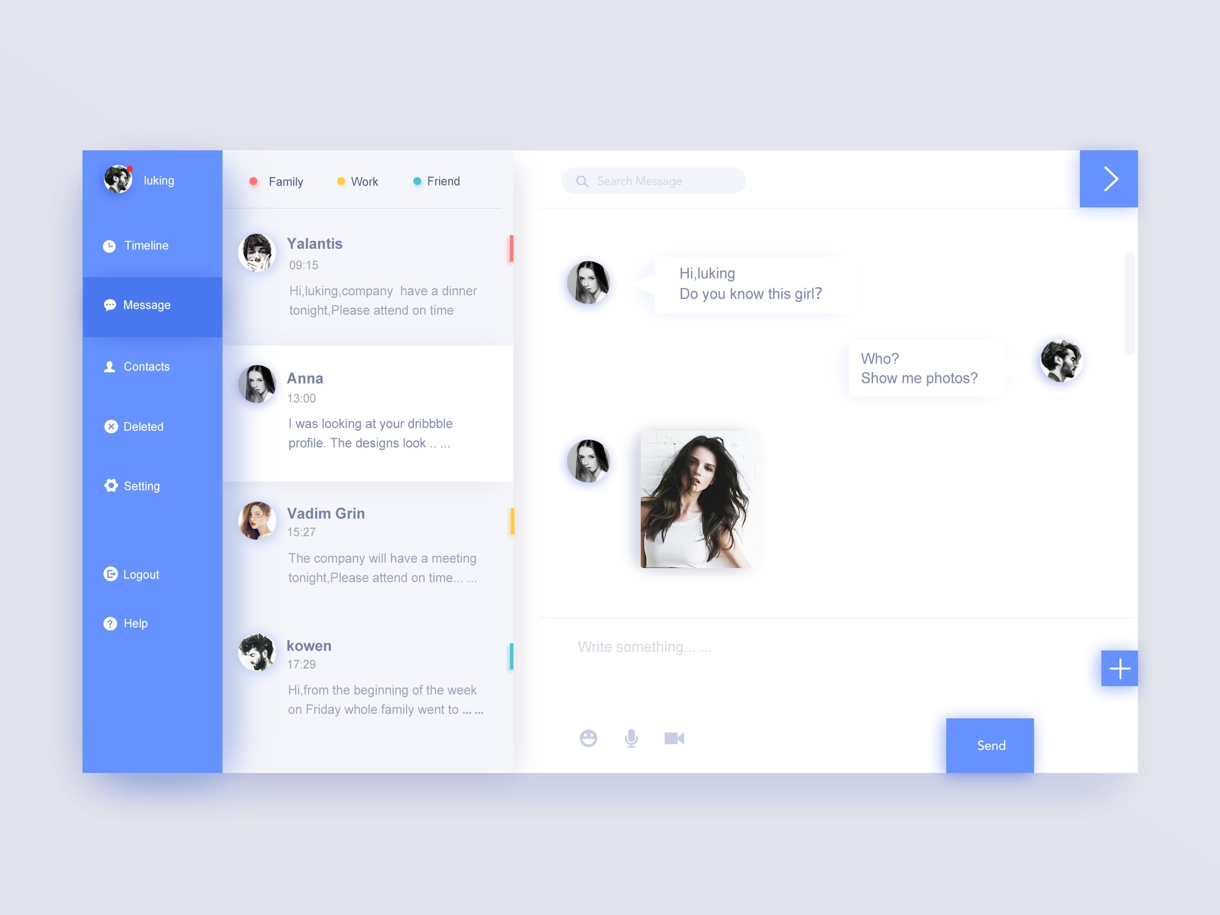 Real Chat Interface Interface Design Mobile App Design Inspiration Windows App Design
