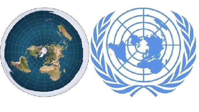 The flat earth map compared the un logo flat earth pinterest the flat earth map compared the un logo gumiabroncs Images