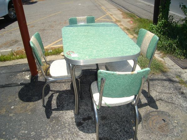 1950s kitchen table exhaust cleaning vintage retro 1950 s w 4 chairs 260 craigslist