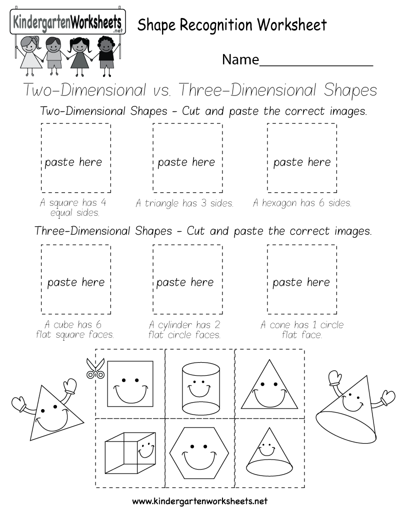 worksheet Three Dimensional Shapes Worksheet kids can learn the difference between two and three dimensional shapes by identifying them