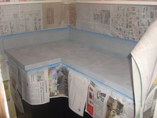 Idea para pintar una encimera de formica ideas cocina - Pintar encimera cocina ...