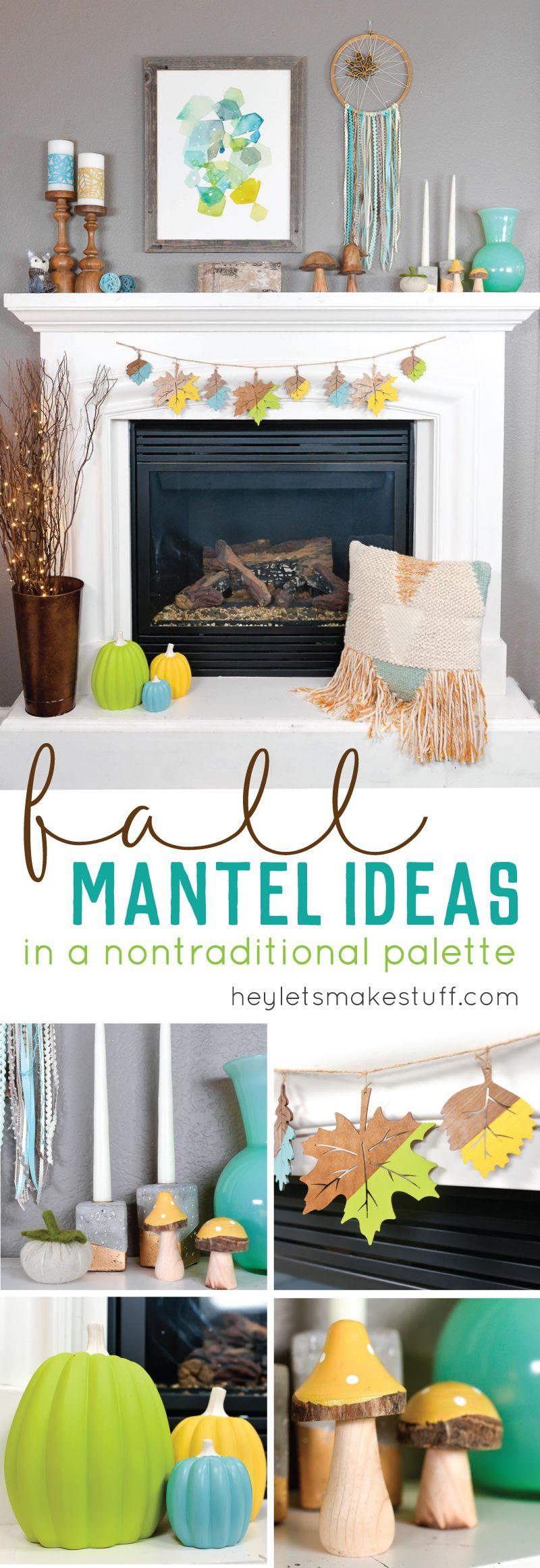 Non-Traditional Fall Mantel Ideas | manualidades ...