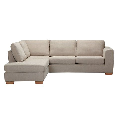 John Lewis Felix Lhf Corner Chaise End Sofa With Light Legs Elena Mocha Online At Johnlewis