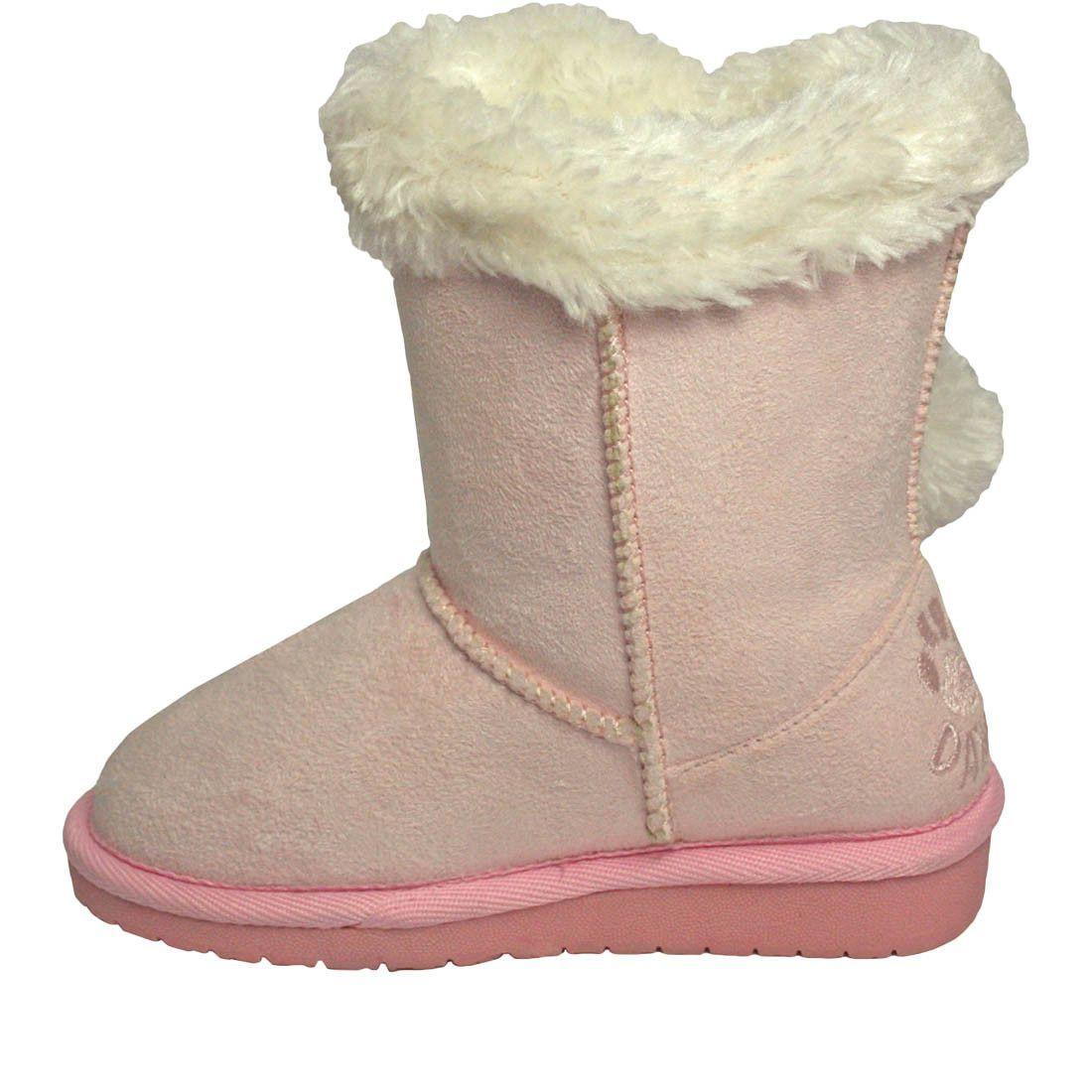 Girls' Side Tie Microfiber Boots - Pink (Special Offer)