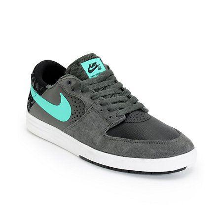 Nike SB P-Rod 7 Low Black, Grey, & Mint Skate Shoes | Zumiez