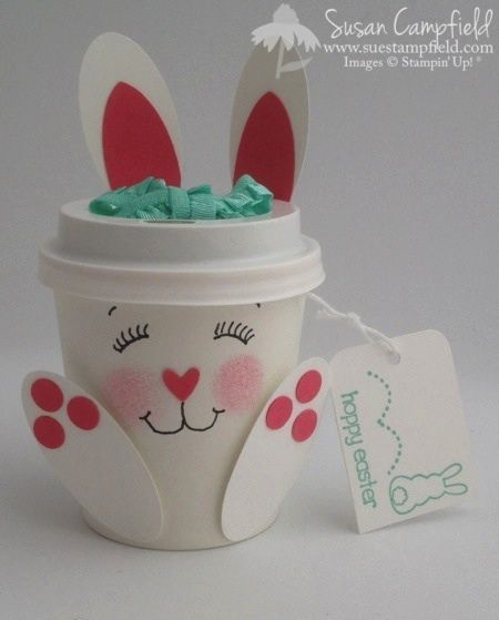 Bunny Brew Mini Coffee Cup Eggstra Spectacular Stampin' Up! Easter Party Favor09-imp #coffeecup