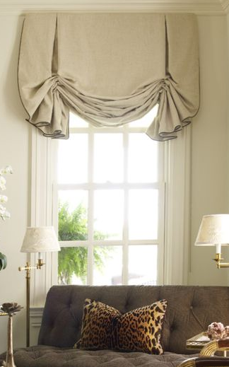 Loose London Shades In Trimmed Linen Curtains Ts