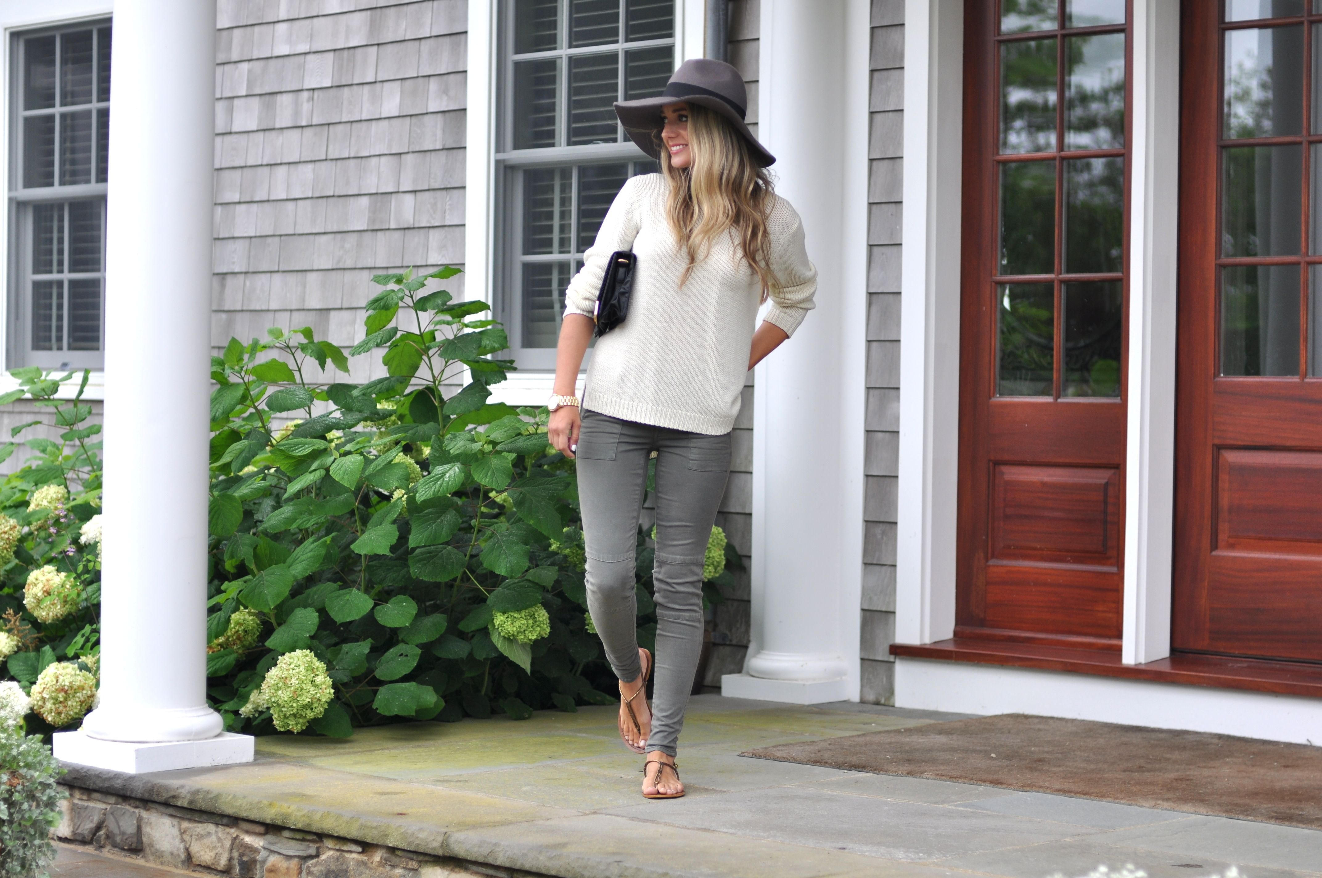 Olive Skinny Pants and Cozy Knit | www.missbethanykate.com