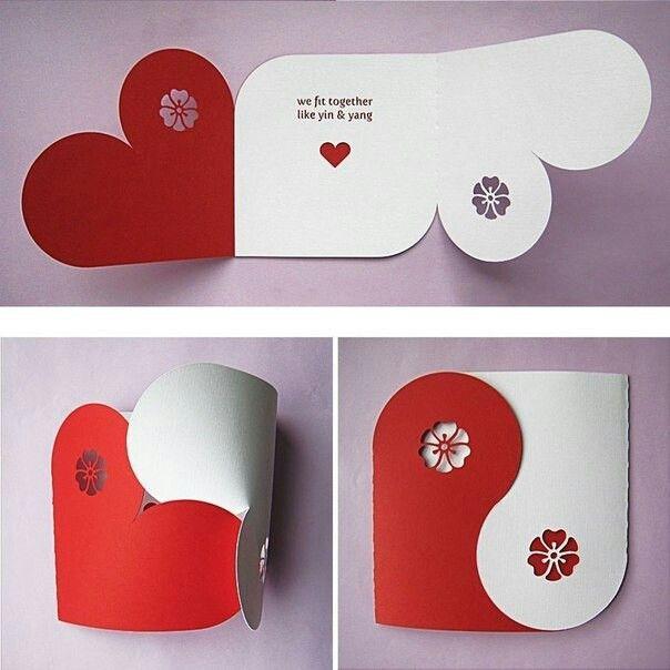 Diy Love Card Let S Go With A Little More Clever Of A Message Kartu Valentine Valentine Kartu