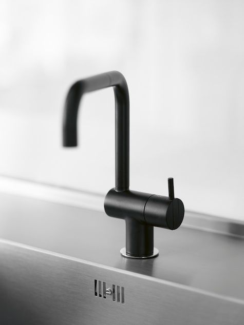 The Classic Arne Jacobsen Designed Vola KV1 Mixer Faucet In Black