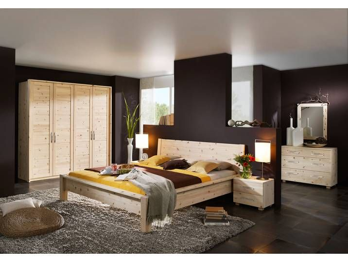 BALANCE Traumhaftes Schlafzimmer aus Zirbenholz 6 tlg. 160
