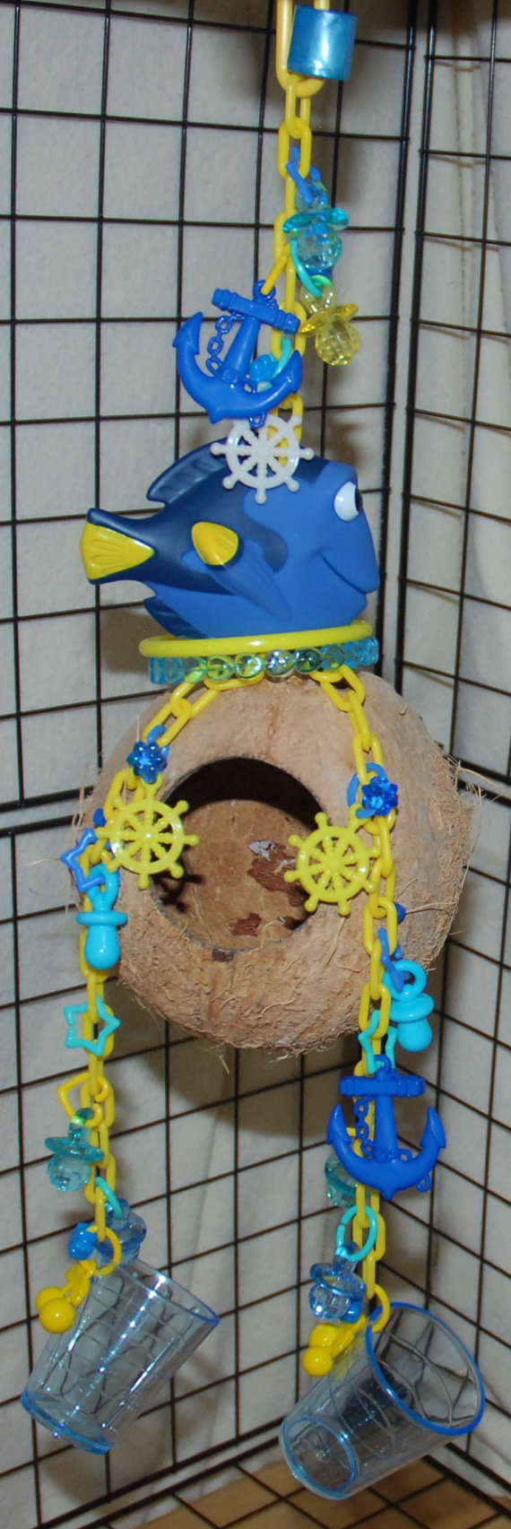 Sugar Glider Toy Hanging Dory XL Coconut with by BluebonnetSG
