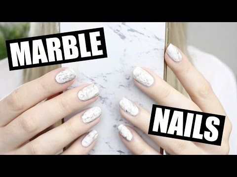 How To Easy Marble Stone Nails Youtube Nail Art Pinterest
