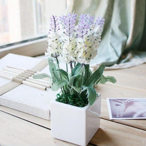 Amazoncom 10 Head Bouquet Beautiful Artificial Lavender Silk - Which-artificial-flower-colors-are-good-for-a-home