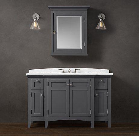 Cartwright Single Extra Wide Vanity Single Sink Vanity Single