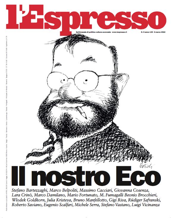 La copertina dell'Espresso in edicola venerdì 26 febbraio 2016