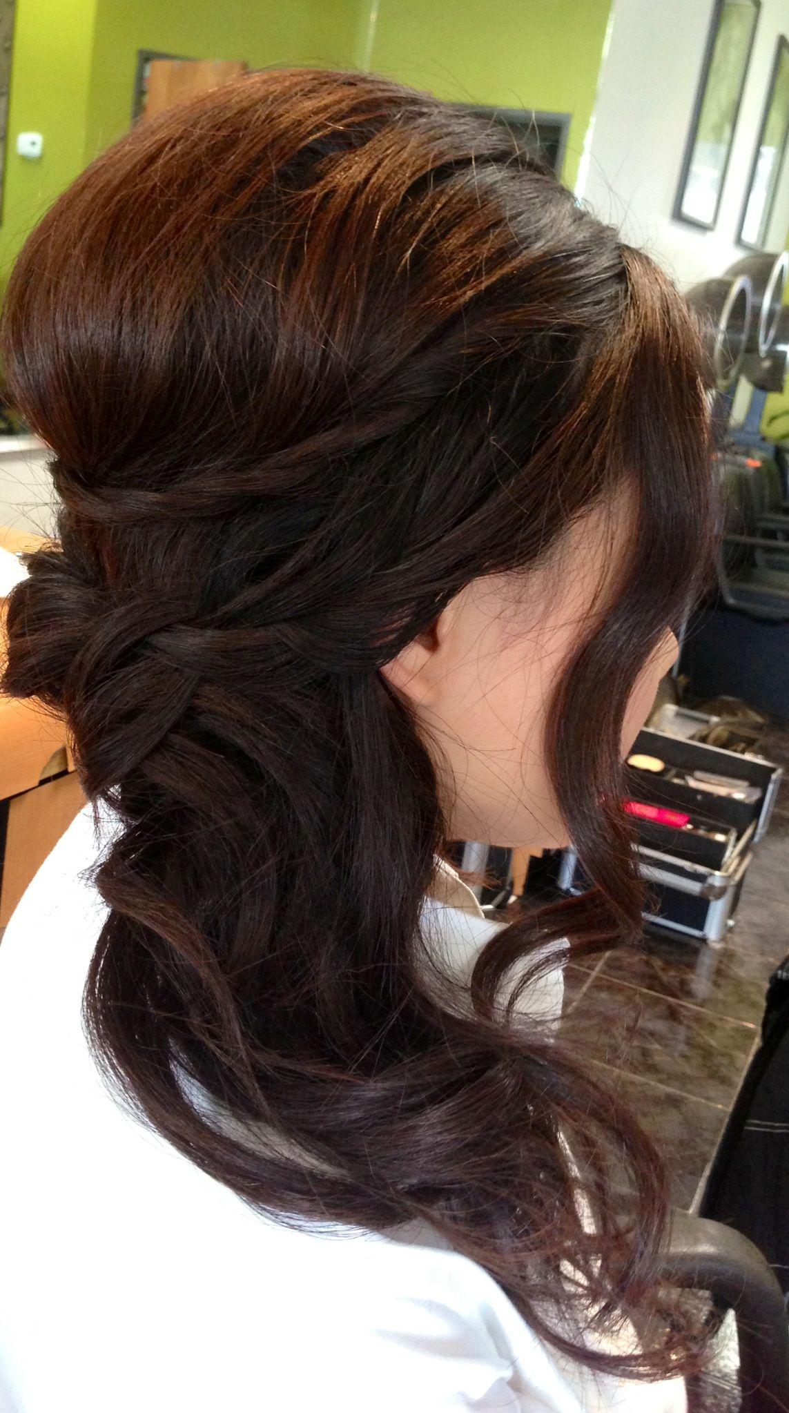 Super Wedding Updo Wedding Hair Bridal Hair Curls Side Ponytail Schematic Wiring Diagrams Amerangerunnerswayorg