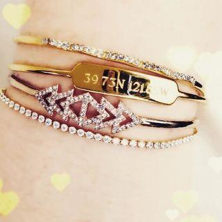Metal Cuff Rose Gold Bracelet Pave Triangle Cuff Stella Dot