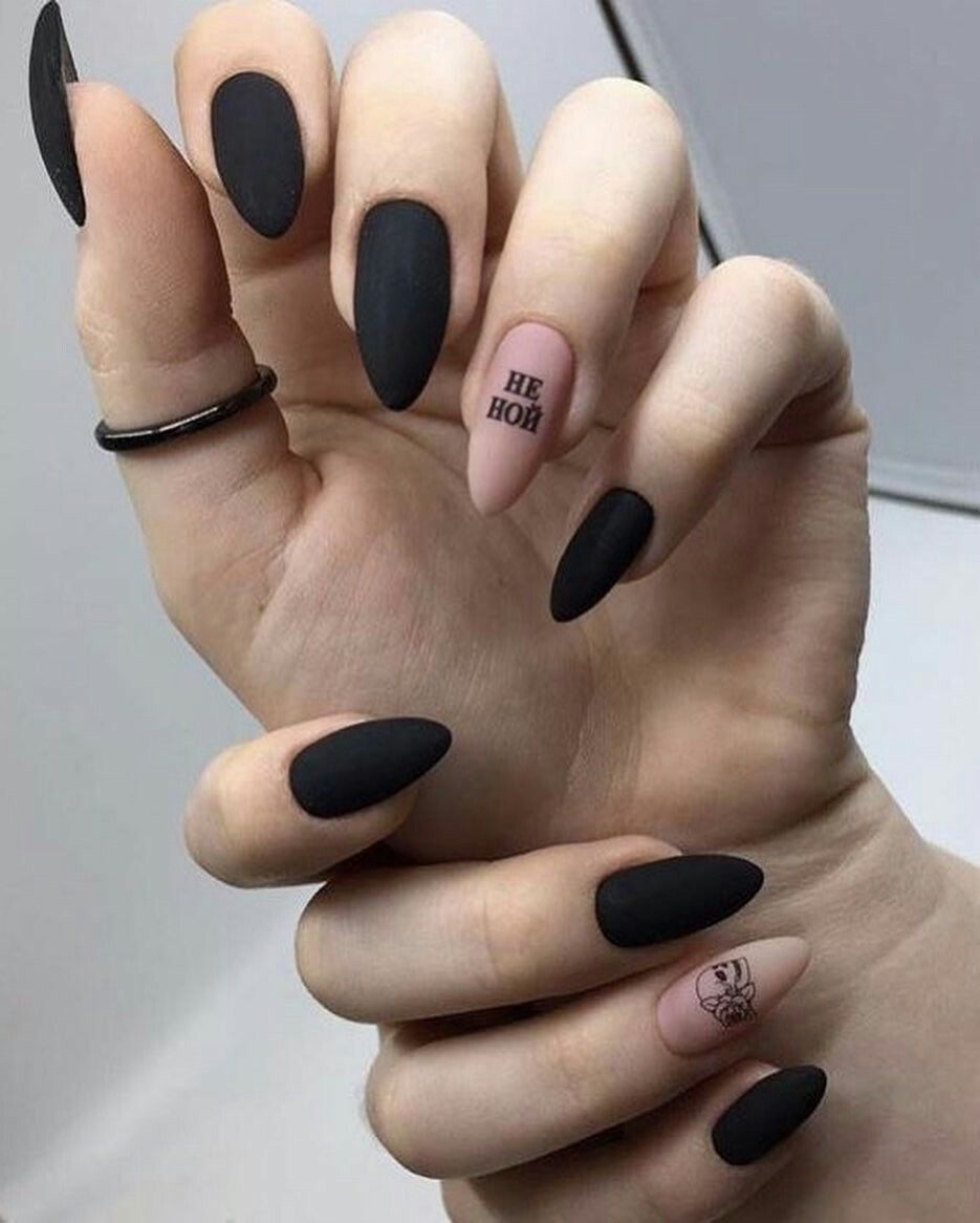 Pin By Maika On дизайн ногтей Grunge Nails Chic Nails Edgy Nails
