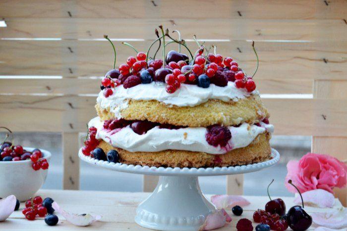 10 recettes de Victoria sponge cake - La recette: Victoria sponge cake aux fruits rouges.© DR