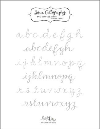 Faux Calligraphy Practice Sheet Th Lettering Practice Calligraphy Worksheet Practice Sheet