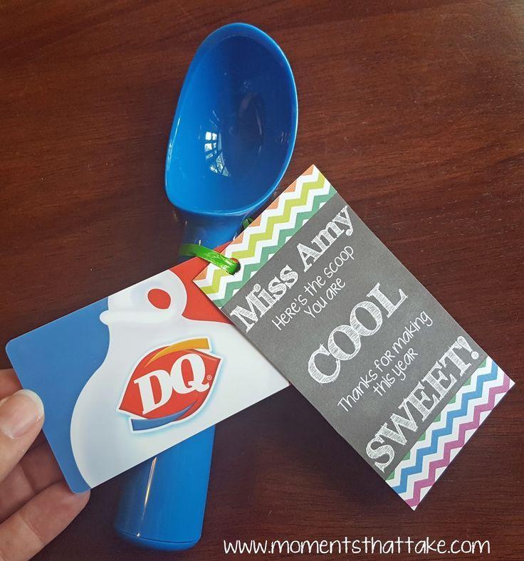 Ice Cream Gift Card Teachers Diy Diy Teacher Gifts School