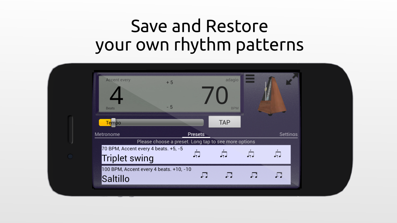 Creative Rhythm Metronome Free screenshot