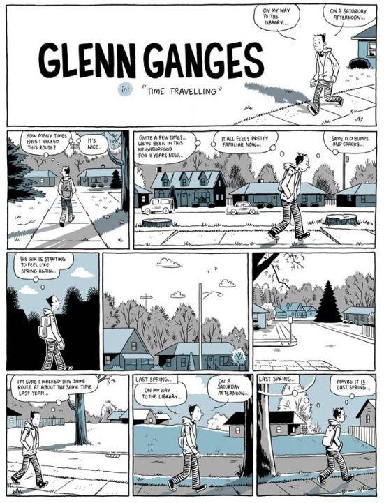 Kevin Huizenga Glenn Ganges In Time Travelling Tekenen