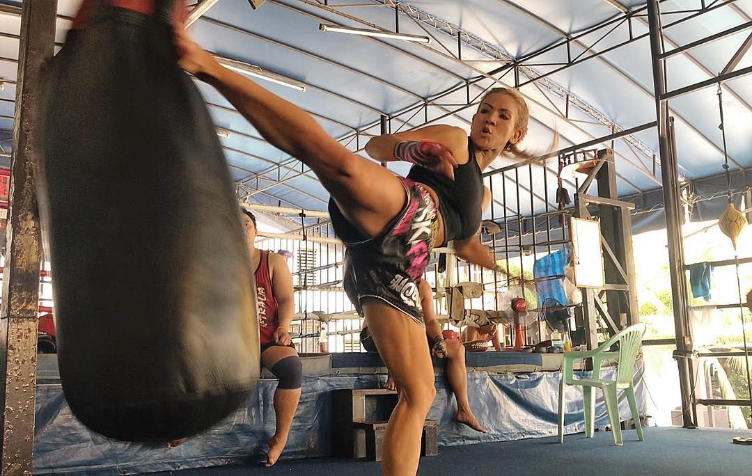 Fitness instructor and muay thai practitioner tina from