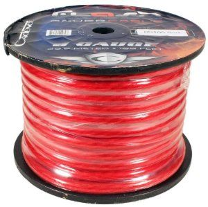 Cadence 0g100 Red 0 Gauge 25 Foot Red Amp Power Wire Spool W Cool Cable Technology Power Wire Car Audio Wire Spool