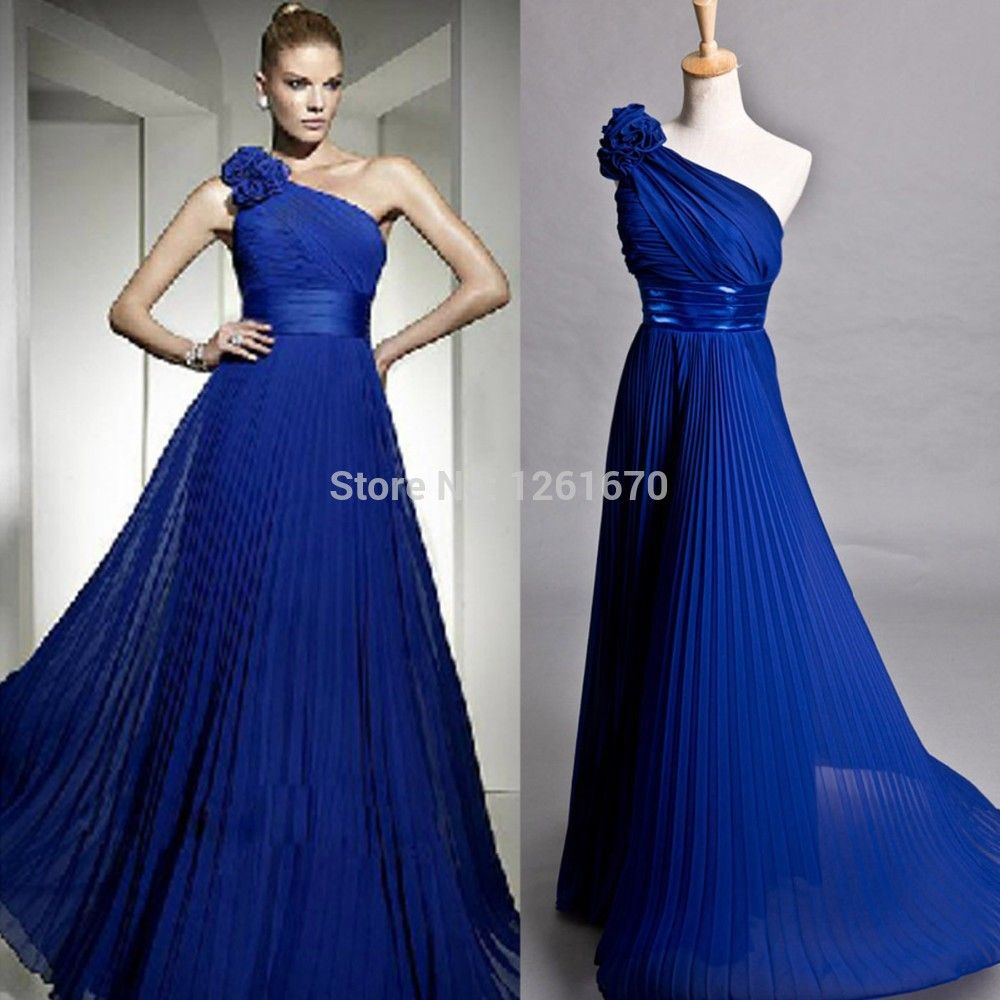 Click to buy ucuc new pleat simple oneshoulder chiffon party