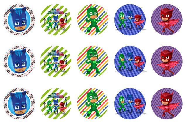 *FREEBIE* PJ MASKS bottlecap images for hair bows/necklace pendants