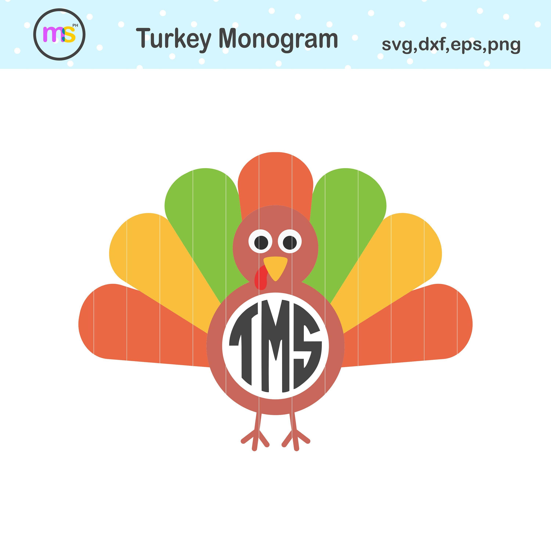 Turkey Monogram Svg, Turkey Monogram, Turkey Svg