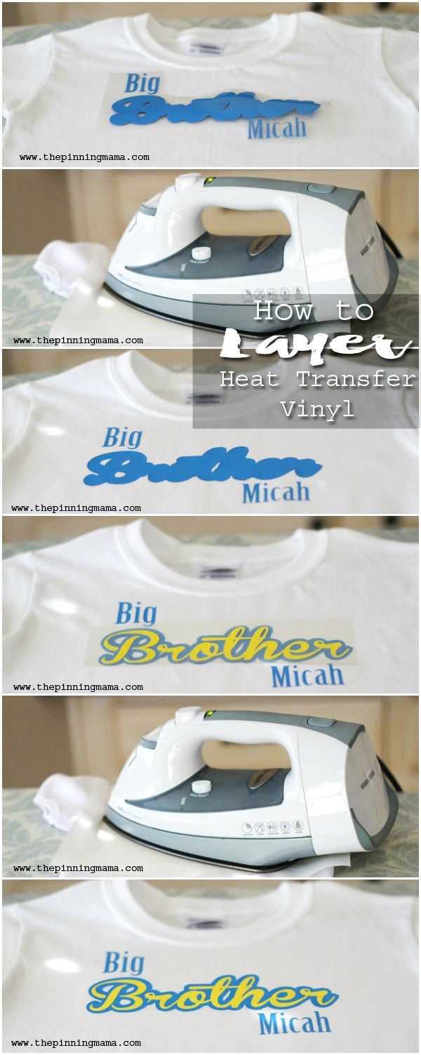 Layering Heat Transfer Vinyl to make multi color designs with your ...