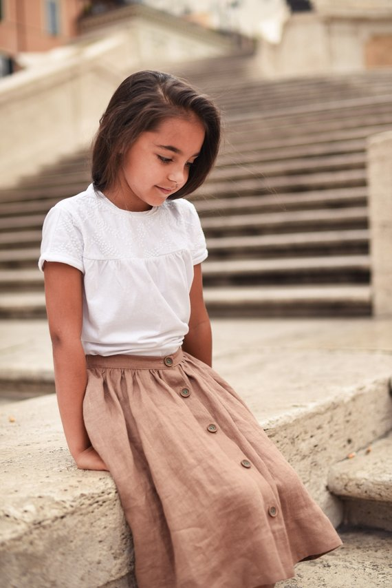 0901f1b487b424 Linen Skirt