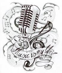 Resultado De Imagen Para Notas Musicales Para Colorear Music Tattoos Music Notes Tattoo Microphone Tattoo
