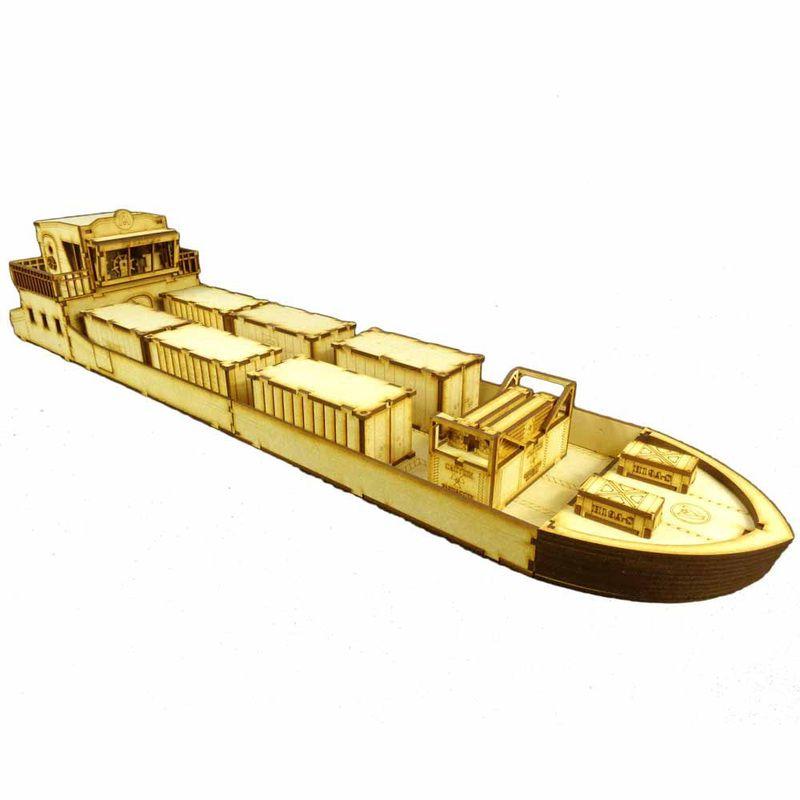 28mm Cargo Ship, nearly 3-feet long! | Miniature Scenery