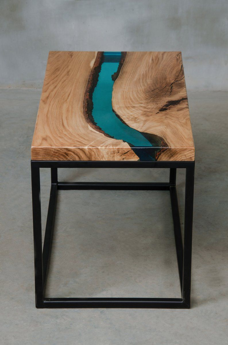 Personalised Live Edge Coffee Table Little Epoxy Table Made Of