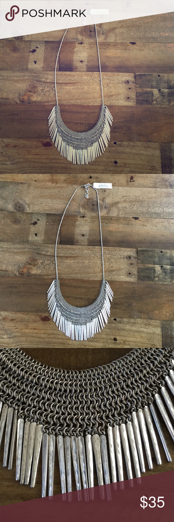 NWT Lucky Brand Silvertone Statement Necklace New with tags Lucky Brand Jewelry Necklaces