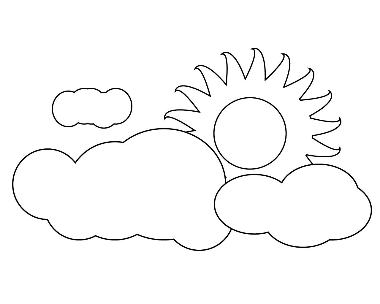 Sun Coloring Pages With Cloud Sun Coloring Pages Coloring Pages Summer Coloring Pages