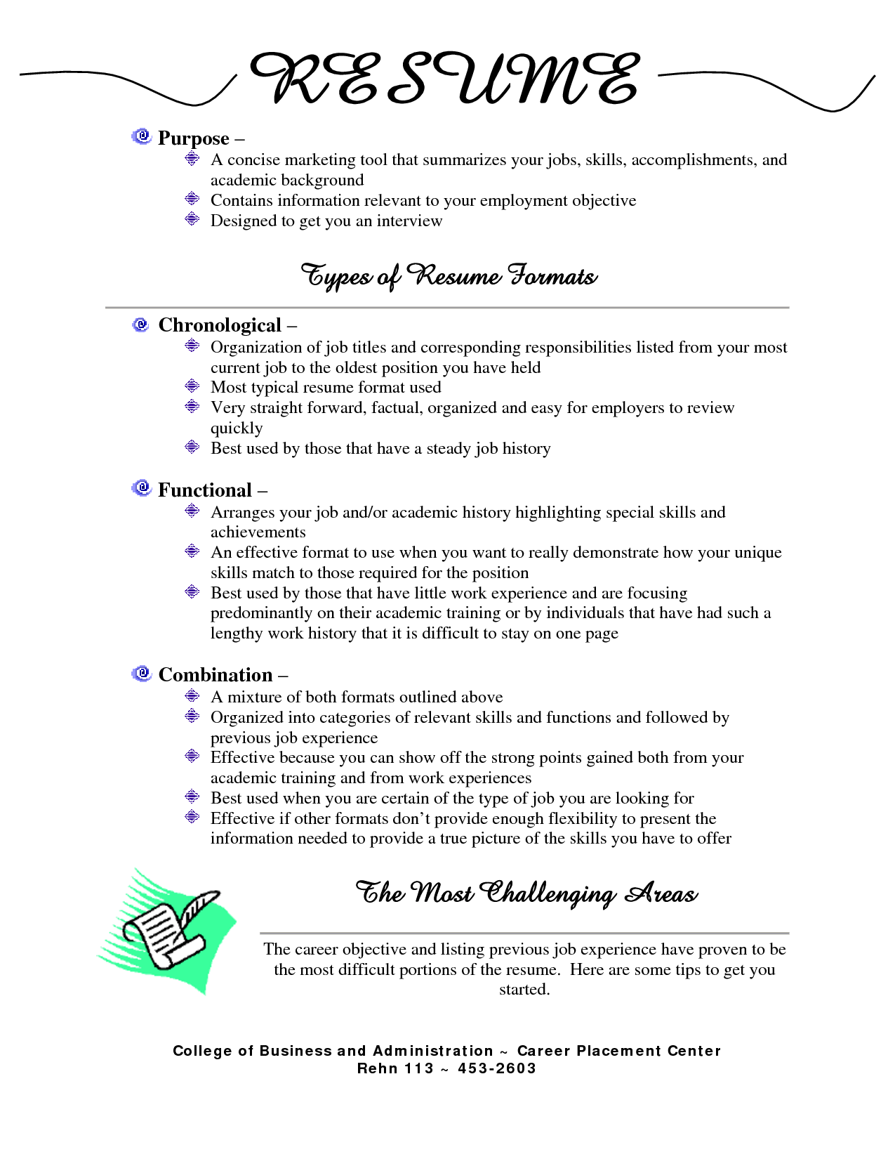 what is the best type of resume to use