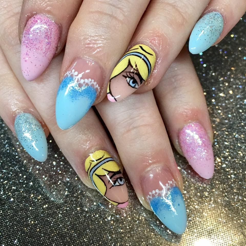 Disney Nail design by Amy Thompson at Fingertip Beauty | Nails by ...