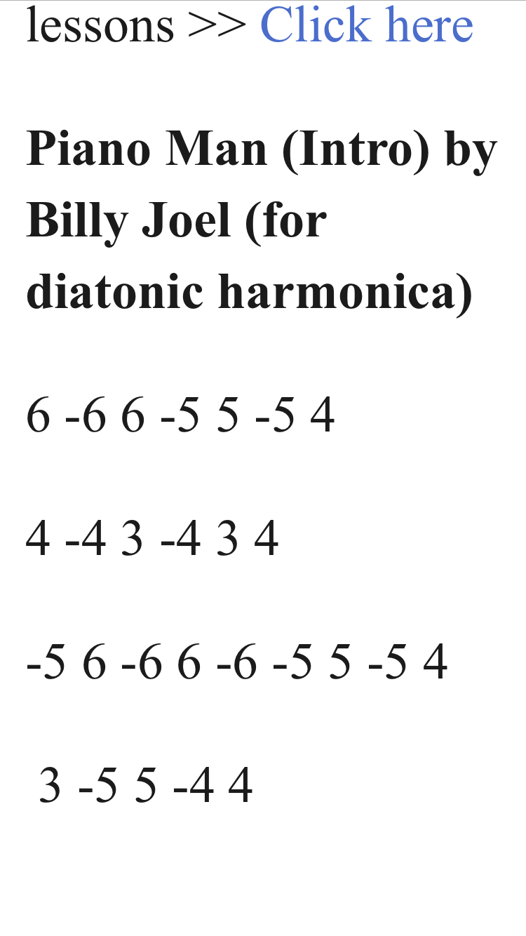 Piano man-Billy Joel | Harps in 2019 | Harmonica lessons