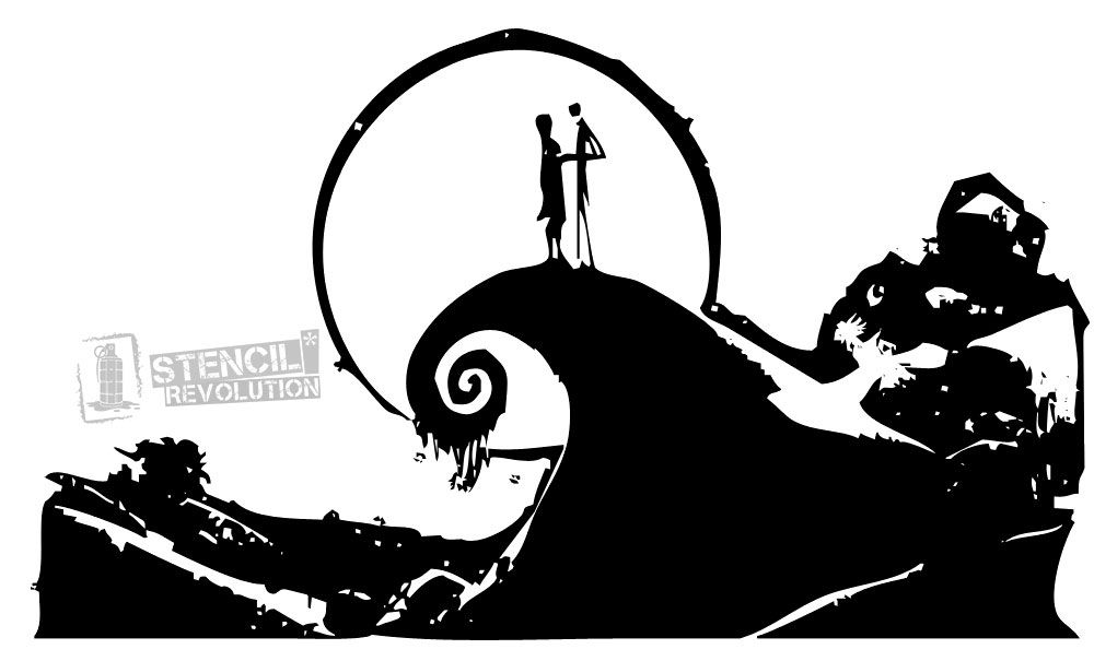 nightmare before christmas stencil