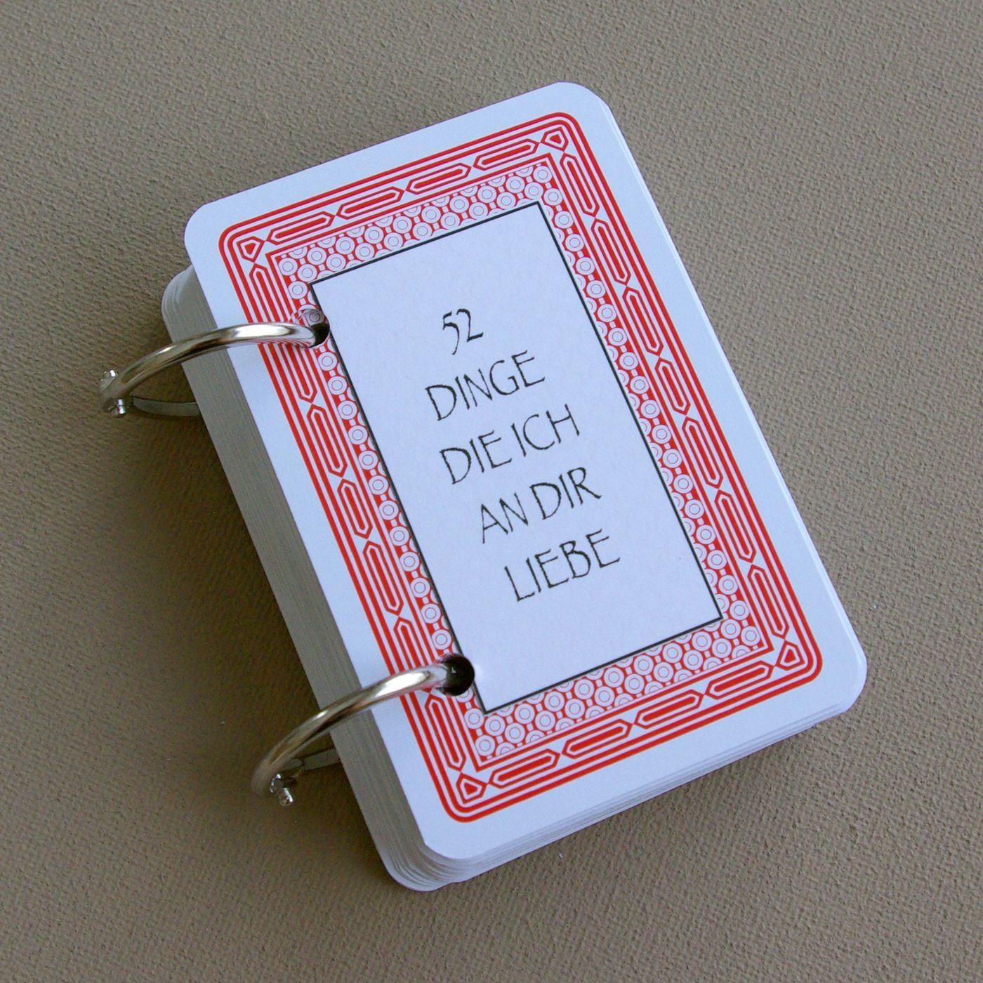 52 Dinge ich an dir liebe Karten Kartenspiel Valentinstag Geschenk selber basteln DIY Tutorial Anleitung kostenlos fertig 1 Diy Birthday Presents