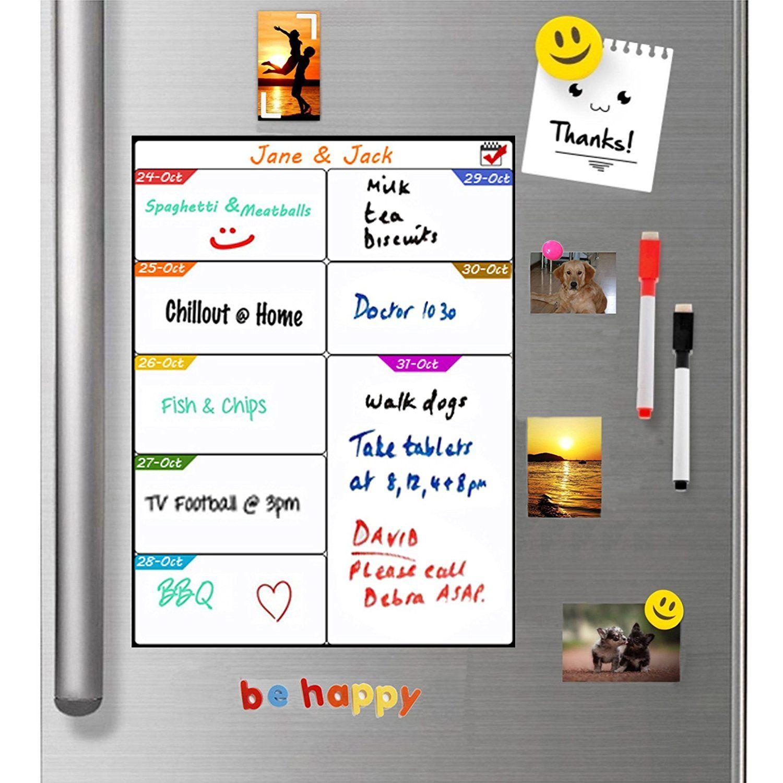 Fridge Meal Planner Action Plan Whiteboard Ttmow Magnetic Weekly Menu Planner Magnet Whiteboard Kitchen Daily Weekly Menu Planners Menu Planners Meal Planner