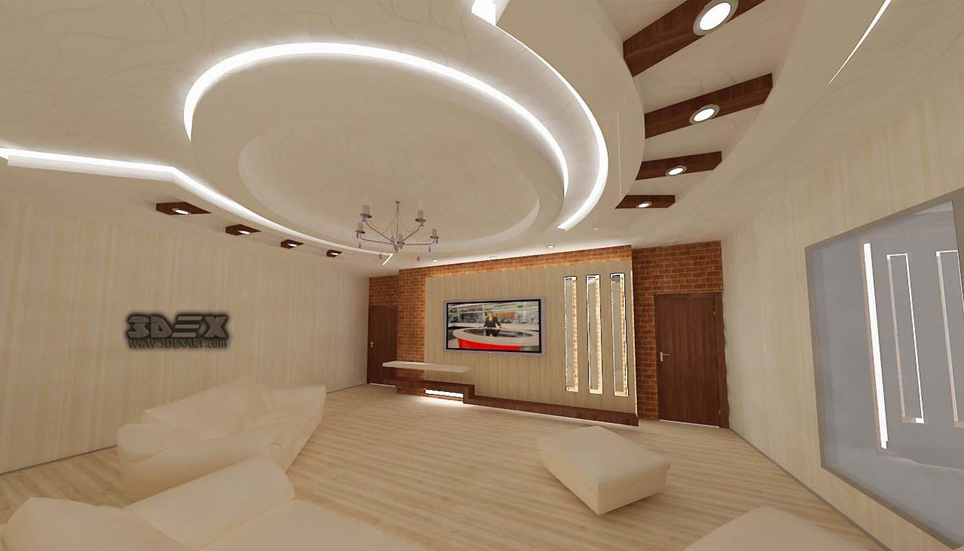Pop false ceiling designs 2018 for living room hall with - Living room false ceiling designs ...