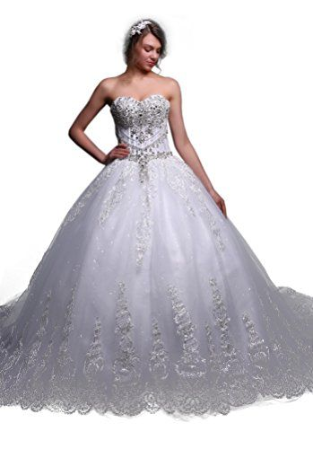 Fancode Women's Beaded Cathedral Train Wedding Dress Fancode http://www.amazon.com/dp/B01CTVBM4A/ref=cm_sw_r_pi_dp_LHk7wb0PV570C
