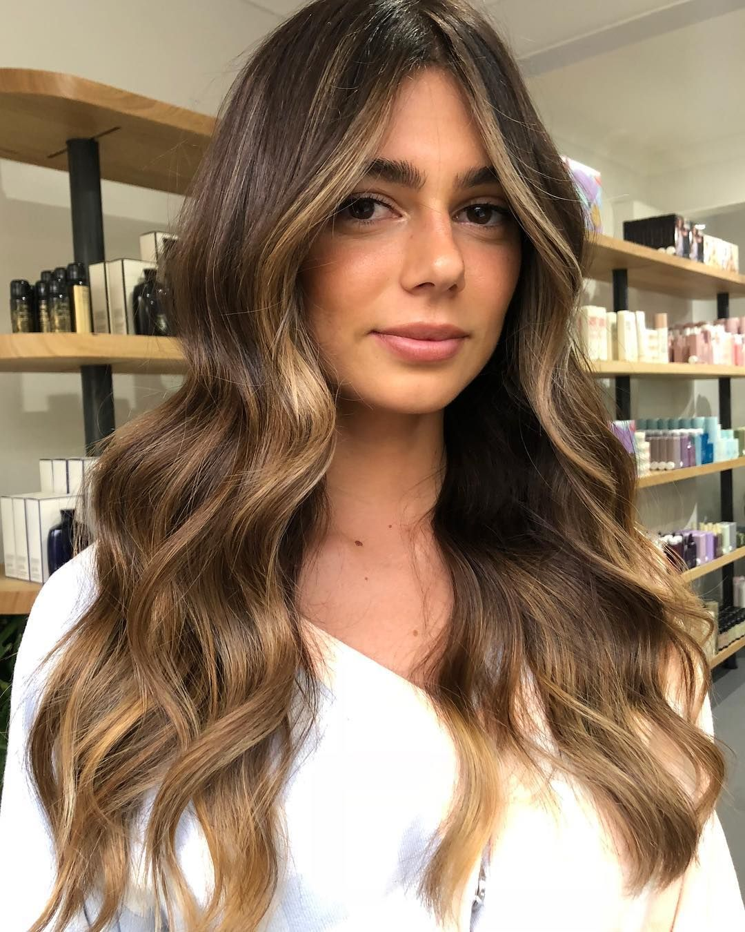 "JAMES PLAIN on Instagram: ""That face frame ️ Sunkissed brunette for @ashtonwood #balayage #brunettebalayage #sunkissedbalayage #dimensionalcolour #livedincolour…"""