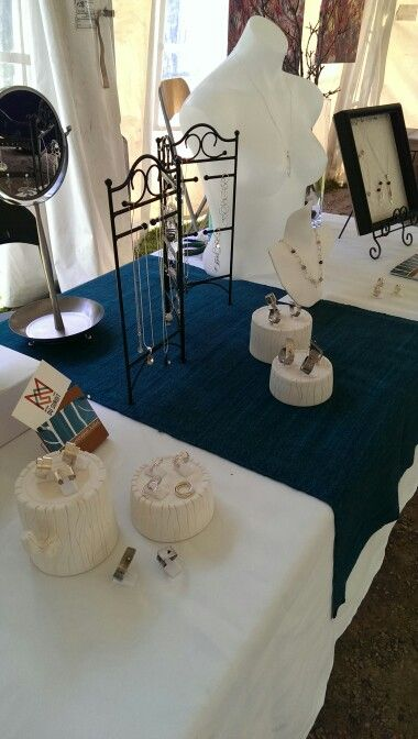 Jewelry display for craft shows - by Geneviève Juillet, jeweller
